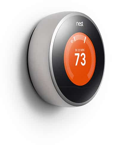 Nest digital thermostat and smoke alarm