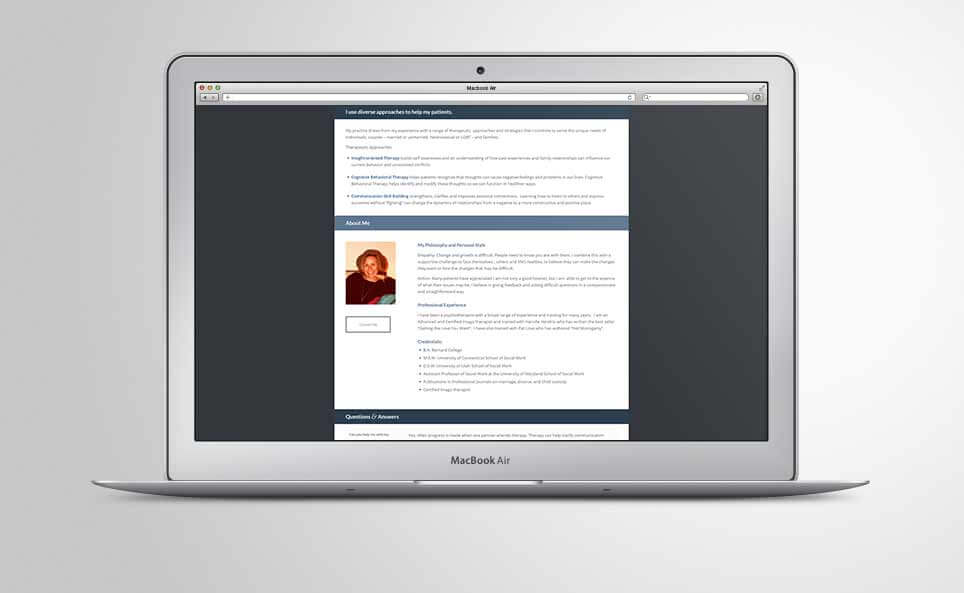 Jane Charnas Website About Page