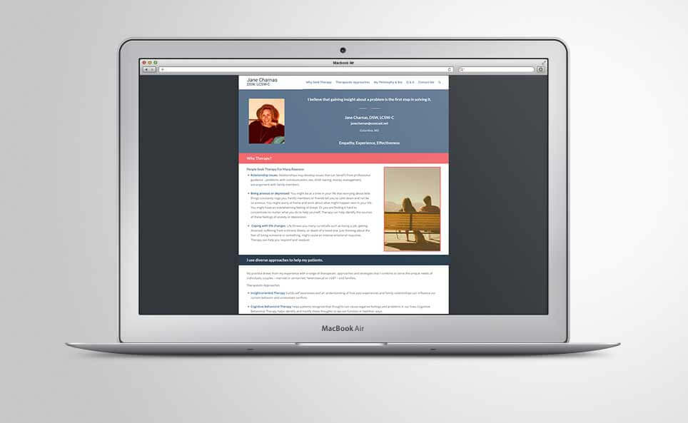Jane Charnas Website Home Page