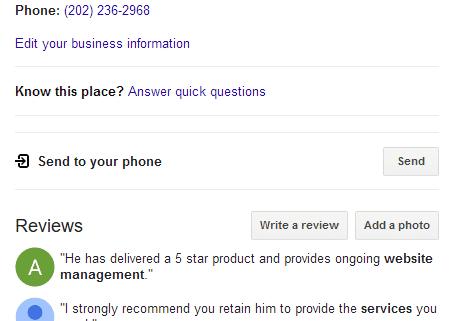 Connect4 Consulting Google Reviews