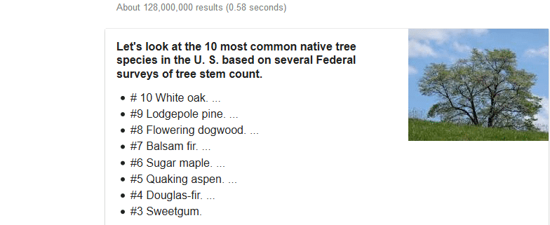 10 most common native tree species in the U.S.