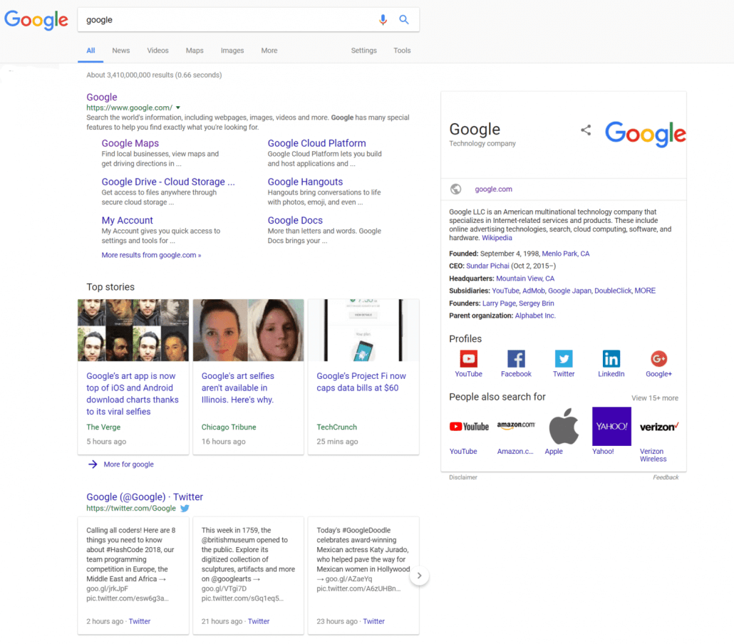 Google's New SERP features