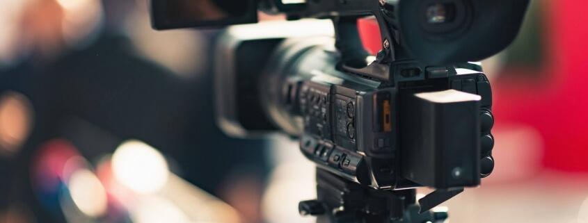 Camera recording publicity event