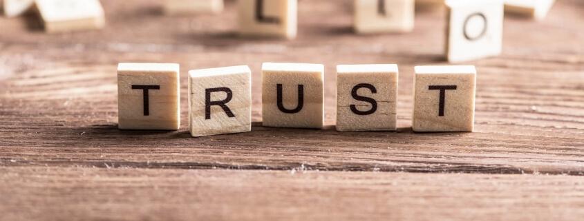 Trust word of wooden elements